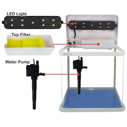 Аквариум Xilong LED (7 л) - 3