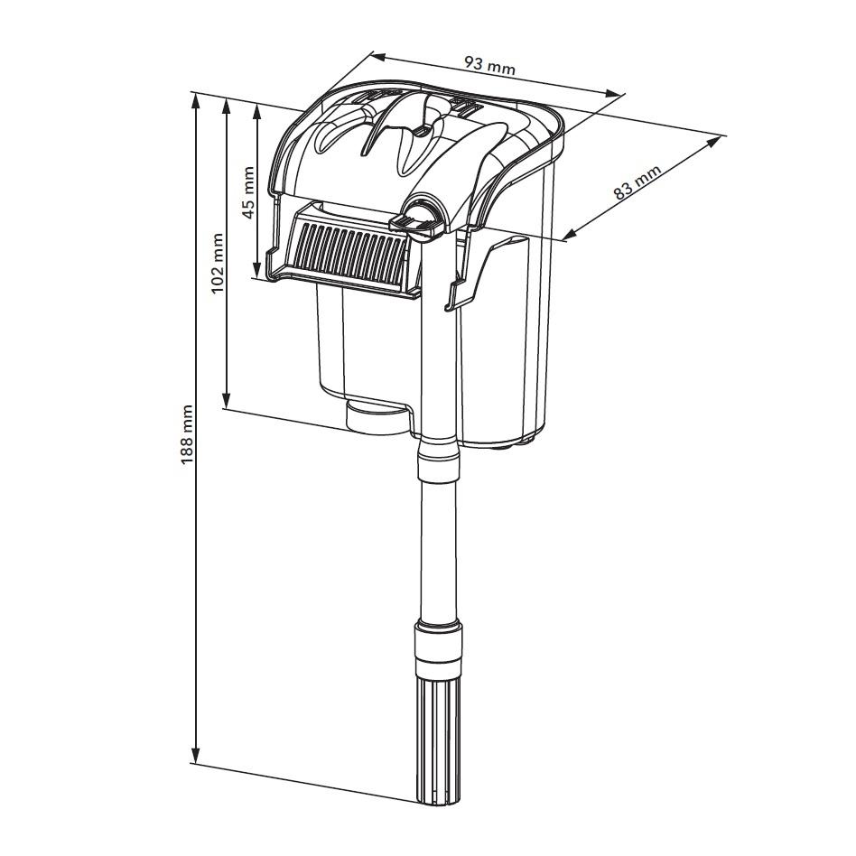 Фильтр навесной AQUAEL VERSAMAX mini (от 10 до 40 л) - 2